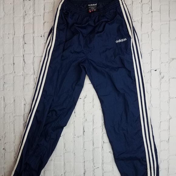 Vintage 90's Adidas Trefoil Nylon Track Pants.